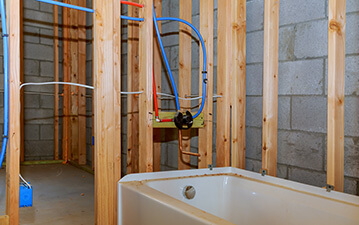 bathroom refinish plumbing