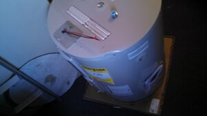 dent in water heater